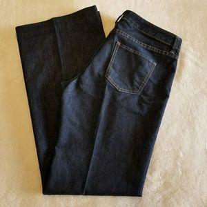 Caslon Wide Leg Dark Jeans, Size 12